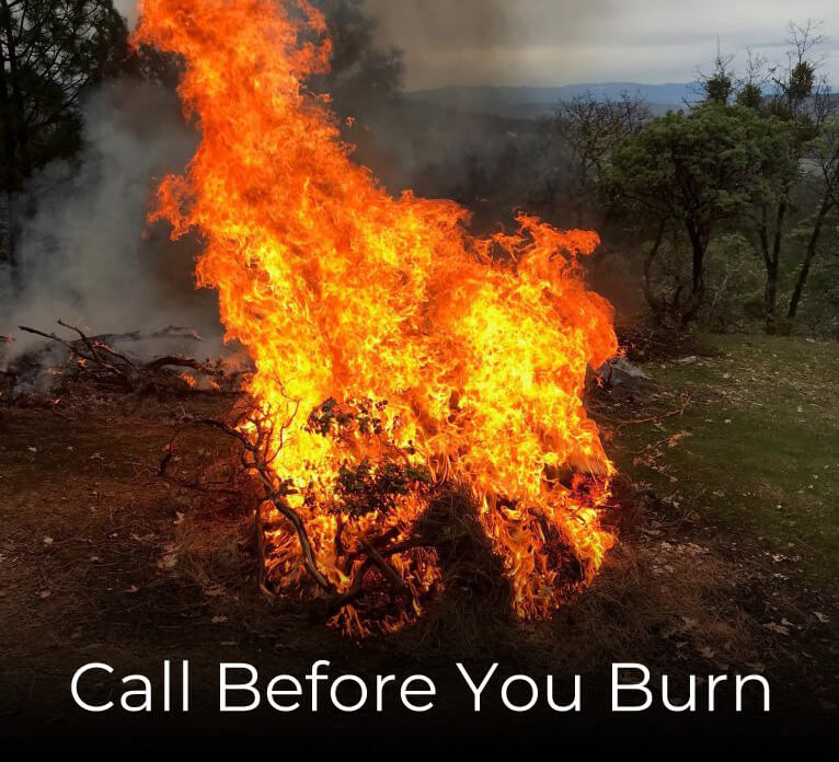 Call before you burn