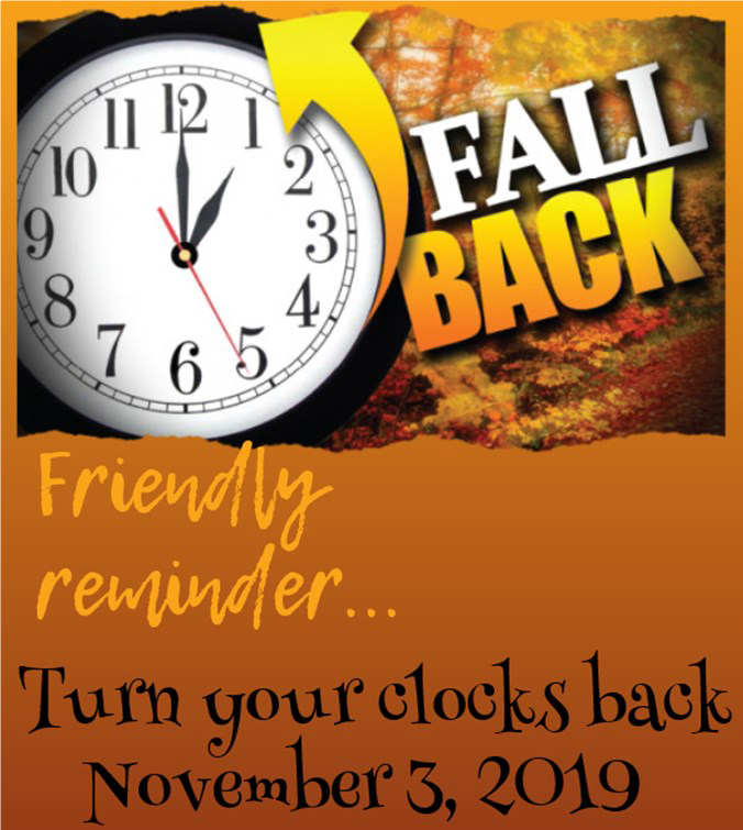 Time to FALL BACK!