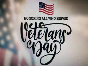 Veteran's Day Monday, 11/11/19 City Hall Closed