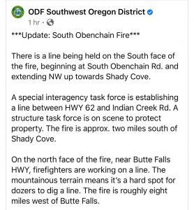 ODF Fire Update