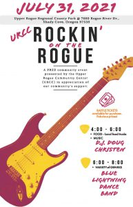 Rockin' on the Rogue! July 31 – Upper Rogue Regional Park